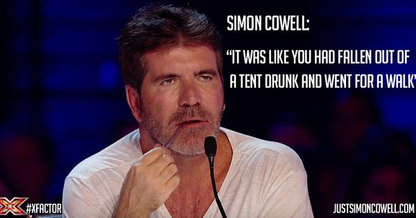 Simon Cowell Quote To An X Factor Contestant.