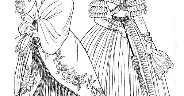 ming ming coloring pages - godey 39 s fashions coloring book dover fashion coloring