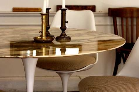 gold tulip table in Paris (photos by braden home designs interior decorating|