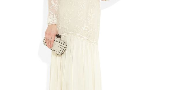 TEMPERLEY LONDON Belle embroidered lace and silk-chiffon gown. weddingdress