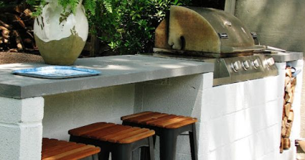 A Cinder Block Bar Can Stand The Elements And With A