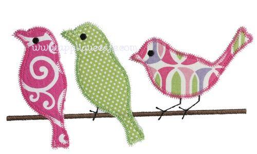 Zig Zag Birds Applique Design Sewing Pinterest Bird