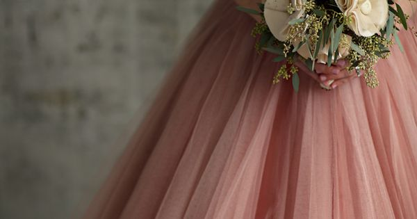 Gold and pink bridesmaid's dress -- This is a cool idea!