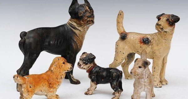 9 Group Of Five Cast Iron Dog Door Stops Jan 27 2013 Fairfield Auction Llc In Ct Door Stops Dog Door Stop Dog Door