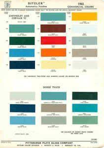 158422529 1965 Chevrolet Dodge Truck Paint Color Chart Ppg 65 Jpg 211 300 Colores De Pintura Dodge Cuadros Coloridos