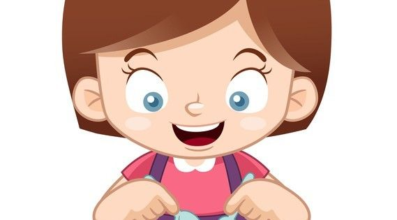 Fotomural Ilustracion De Dibujos Animados Nina Comiendo Pixers Vivimos Para Cambiar Cartooning 4 Kids Cartoon Kids Islamic Cartoon