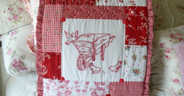 Love this repurposed vintage linens sewing pinterest