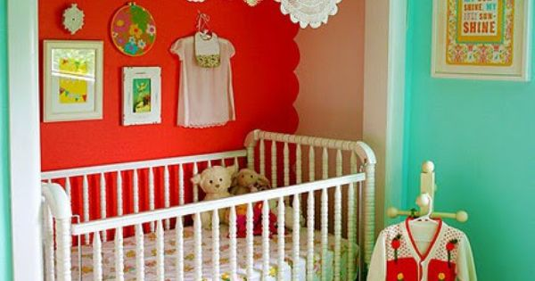 crib in closet - great idea for a small space. I was