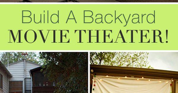 Build a backyard movie theater backyard movie theaters for Diy backyard theater seats