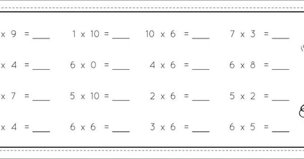 Ceintures de tables de multiplications nouvelle version - Calcul mental table de multiplication ...