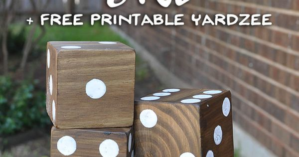 Discover how to make your own DIY Giant Yard Dice. Plus ...