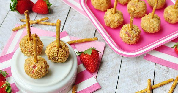 Strawberry Graham Cheese Ball Bites | Recipe | Cream cheeses, Bite ...