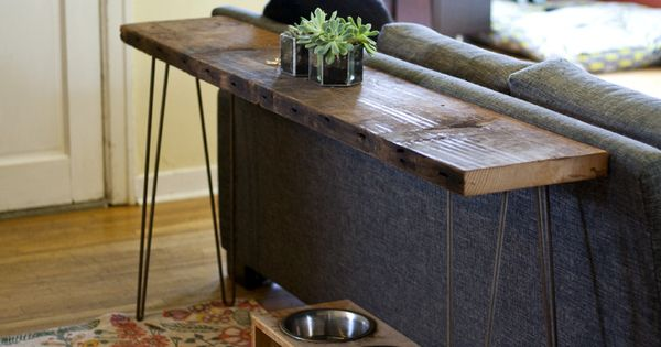 Diy Console Table Rustic Industrial Wood From