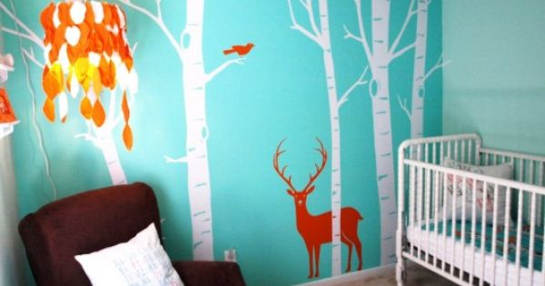 baby boy wall decals | Baby Nursery, Blue Wall Colors With White