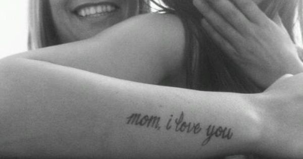 Love this mother daughter tattoo idea
