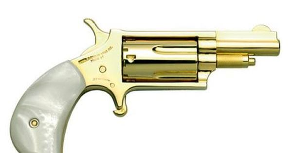 NAA 22M Gold Plated Pearl Handle sub-compact #handgun #gun ... Minigun Bullet Wound