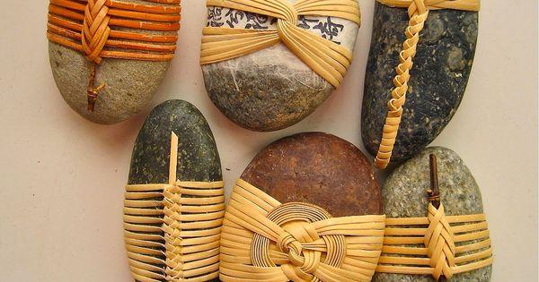 Stones Weave Bamboo Basketeer Homemade Pinterest Stone