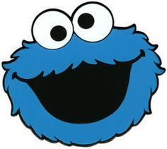 Cookie Monster Face Template Clipart Panda Free Clipart Images