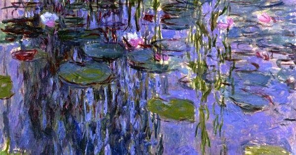 Art Wall Claude Monet ''Lavender Water Lillies'' Canvas Wall Art