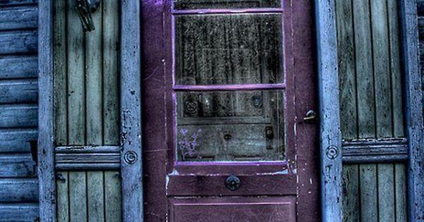 Purple Door Blue House - This is the door to my outdoor
