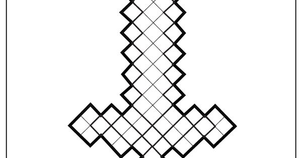 Minecraft Sword Coloring Page