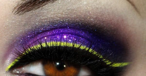 purple blue gold | Glitter purple and blue eye shadow with gold