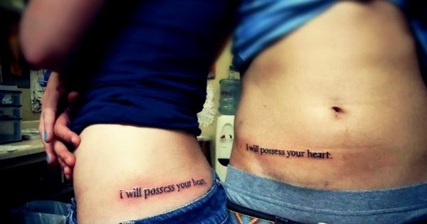 cuteee matching tattoos, but I think 2 death cab tattoos would be