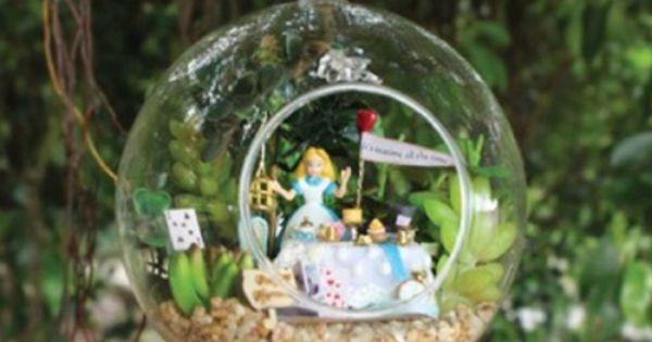 Diy Alice In Wonderland Miniature Garden Ornament Alice In Wonderland Pinterest Garden
