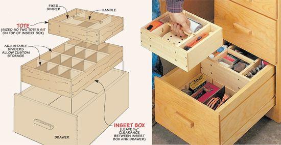 Woodsmith Tip Organizing Drawers Desk Drawer Organisation