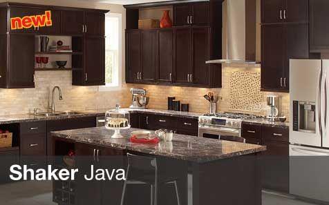 Home Depot Shaker Java Cabinets Dark Brown Kitchen Cabinets Brown Kitchens Backsplash Kitchen Dark Cabinets