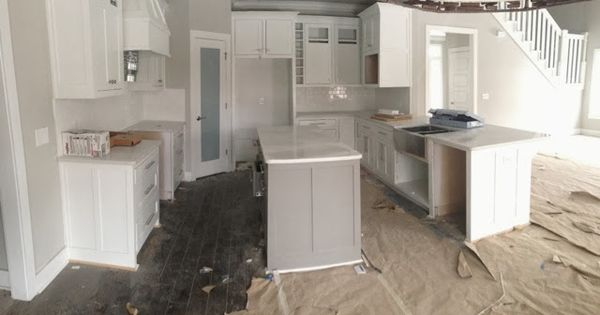 The Kitchen Island Is Dovetail By Sw And Repose Gray Walls