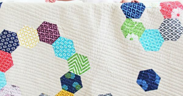 Confetti Baby Quilt Kit. Pattern designed by V and Co. Fabric is