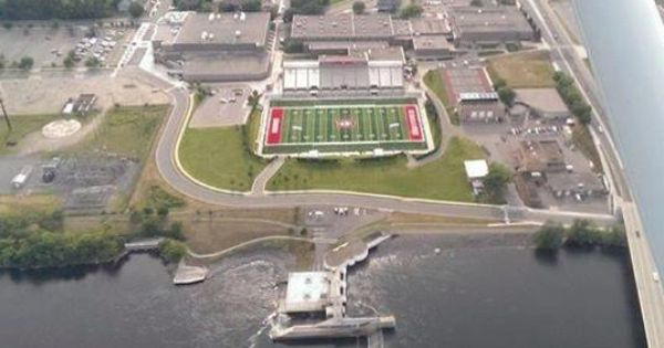 Aerial View Of Husky Stadium On St Cloud State University S Campus Stcloudathletics Stcloudstateuniversity Scsu Stcloudmn University Campus Campus Clouds