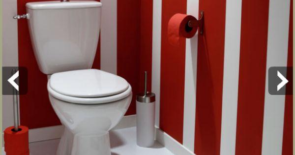 D co toilette id e et tendance pour des wc zen ou pop rouge deco and toilet - Deco in het toilet ...