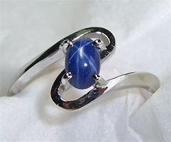 Women S Star Sapphire Ring Star Sapphire Ring Blue Star Sapphire Ring Sapphire Ring