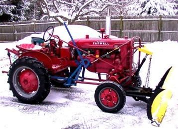 1941 Farmall A Snow Plowing Forward Antique Tractor Tractors Farmall Farmall Tractors
