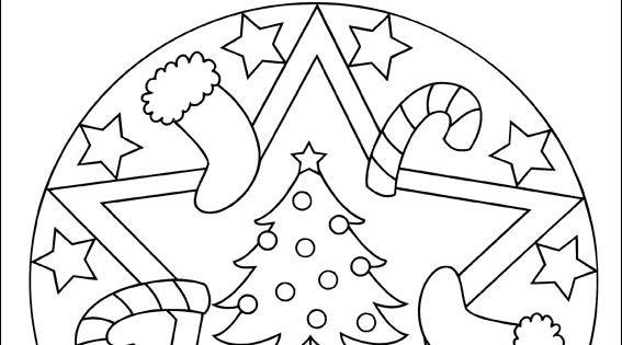 mandala noel  ausmalbilder für kinder  weihnachten