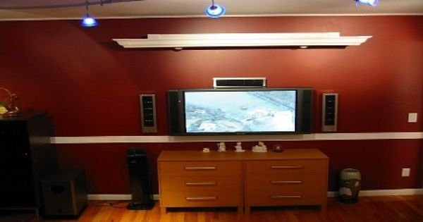 Cornice To Hide Projector Screen Projector Screen Diy Living Room Makeover Home Entertainment