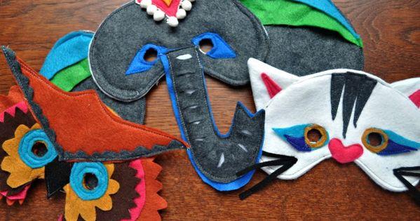 Felt Animal Masks - Amazing idea of amazingness.