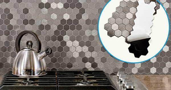 Honeycomb backsplash