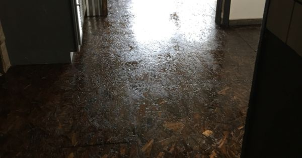 Osb Stained Floor Cabin Pinterest Flooring Ideas And