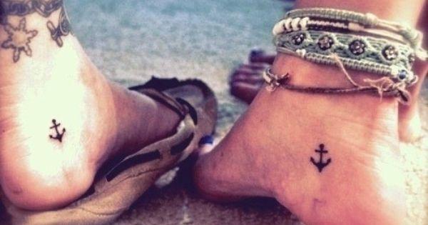 anchor tattoos @Sarah Sizemore our matching tattoos!! hahaha