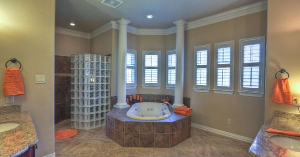 Master Bath Has A Walk In Shower And Whirlpool Tub Huge