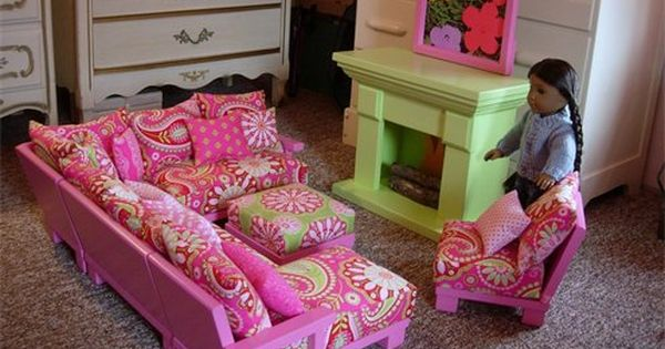 room set for american girl dolls with sectional couch american girl