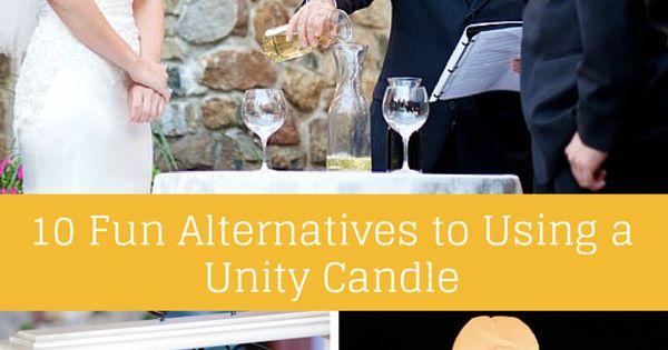 10 Fun Alternatives To Using A Unity Candle #Wedding