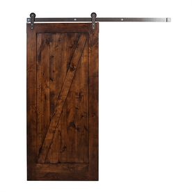 Ironwood Stained Z Frame Knotty Alder Barn Interior Door Common 36 In X 84 In Actual 36 In X 84 In K2zb3070wr6n Interior Barn Doors