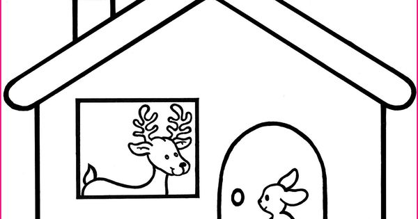 Dans sa maison un grand cerf coloriage pour illustr for Dans la foret un grand cerf regardait par la fenetre