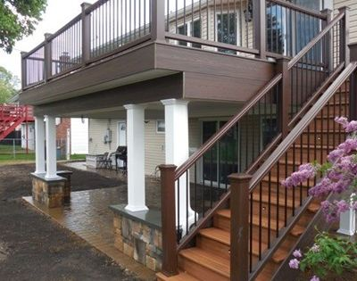 Decks only custom designed and built 2nd floor deck with for 2nd floor patio deck