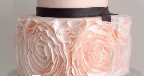 Ruffled cake idea