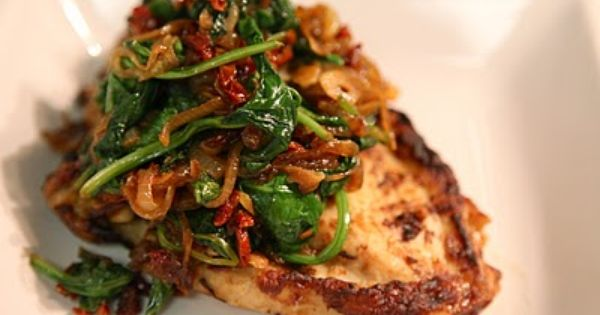 Sauteed Caramelized Onions, Sun-Dried Tomato, Garlic & Baby Spinach ...
